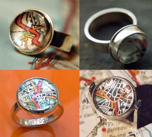 art925 italian maps rings