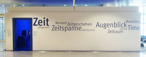 Zeit exhibit on time - Munich Airport