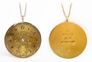 art925 gold plated pocket watch pendant