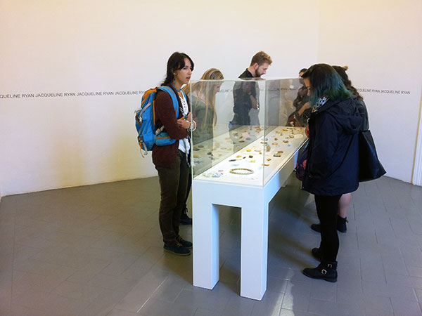 SACI students visiting the Jacqueline Ryan exhibition at Antonella Villanova, Florence